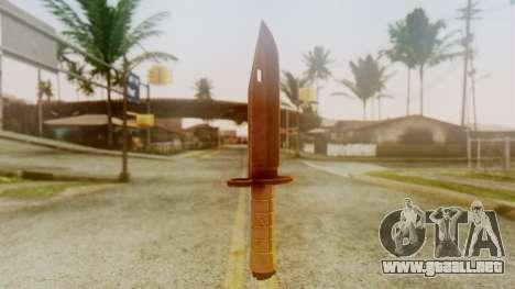 Combat Knife para GTA San Andreas segunda pantalla