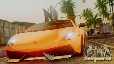 Lamborghini Gallardo Superleggera 2011 para GTA San Andreas vista posterior izquierda