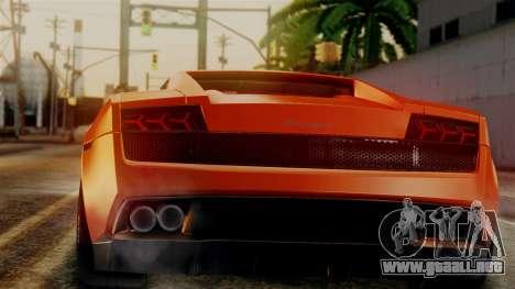 Lamborghini Gallardo Superleggera 2011 para GTA San Andreas left