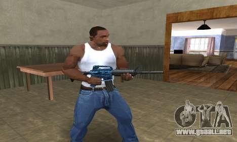 M4 Blue Snow para GTA San Andreas tercera pantalla