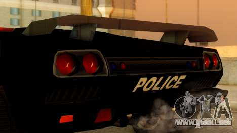 Lamborghini Diablo Police SA Style para la visión correcta GTA San Andreas