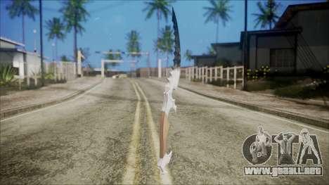 Colección de chrome cuchillo para GTA San Andreas segunda pantalla