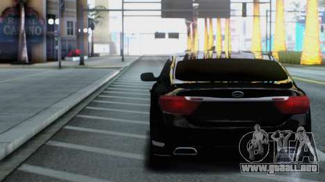 Kia Quoris para GTA San Andreas vista hacia atrás