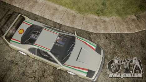 Turismo F40 para visión interna GTA San Andreas