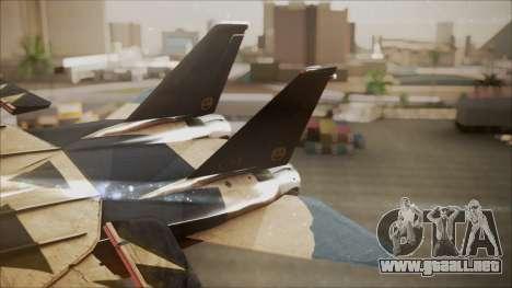 F-14D AC6 Halloween para GTA San Andreas vista posterior izquierda