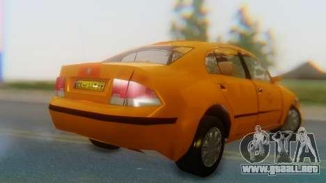 Samand Taxi para GTA San Andreas left