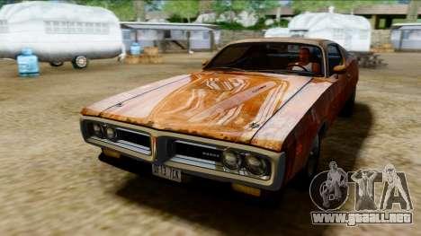 Dodge Charger Super Bee 426 Hemi (WS23) 1971 PJ para vista lateral GTA San Andreas