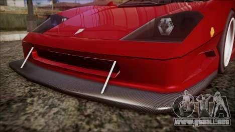 Turismo F40 para la visión correcta GTA San Andreas
