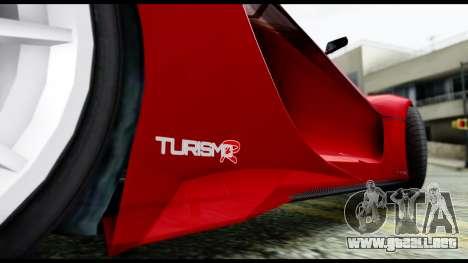 Grotti Turismo RXX-K v2.0 para GTA San Andreas vista posterior izquierda