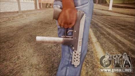 TEC-9 v1 from Battlefield Hardline para GTA San Andreas tercera pantalla