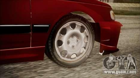 Peugeot Pars The Best Full Sport v1 para GTA San Andreas vista posterior izquierda