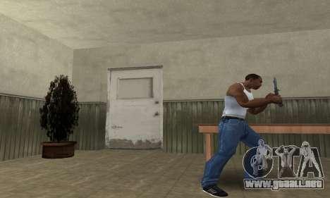 Butterfly Knife para GTA San Andreas segunda pantalla