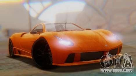 GTA 5 Pegassi Osiris SA Style para GTA San Andreas vista posterior izquierda