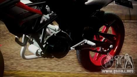 Honda CB150R Streetfire para GTA San Andreas vista hacia atrás