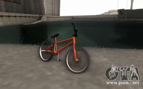 BMX HD para GTA San Andreas vista posterior izquierda