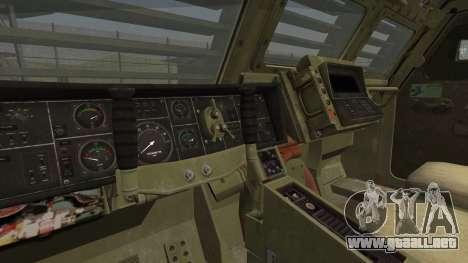 Hellenic Army M270 MLRS para GTA San Andreas vista posterior izquierda