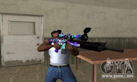 Automatic Sniper Rifle para GTA San Andreas tercera pantalla