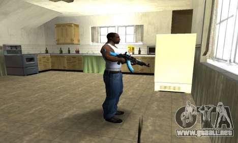 Blue Scan AK-47 para GTA San Andreas tercera pantalla
