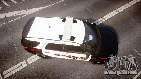 Ford Explorer 2011 Elizabeth Police [ELS] para GTA 4 visión correcta