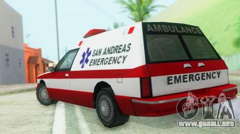 Premier Ambulance para GTA San Andreas left