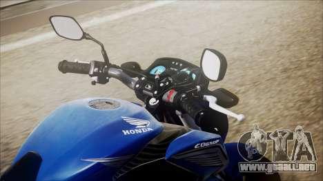 Honda CB650F Azul para GTA San Andreas vista hacia atrás