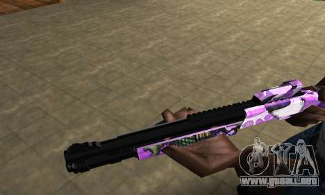 Purple World Shotgun para GTA San Andreas segunda pantalla