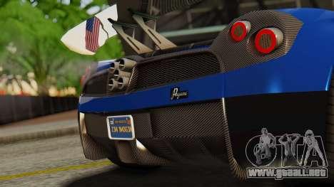 Pegassi Osyra Extra 1 para GTA San Andreas vista hacia atrás