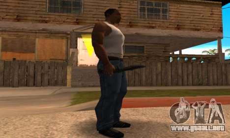 Cool Knife para GTA San Andreas segunda pantalla