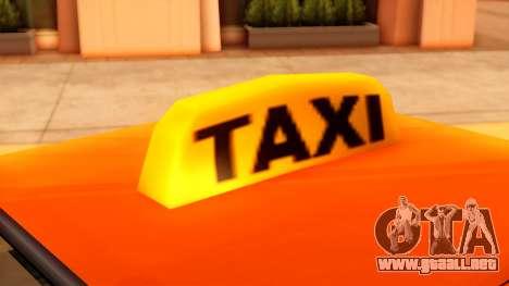 Taxi Intruder para la visión correcta GTA San Andreas