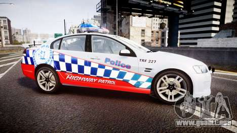 Holden Commodore SS Highway Patrol [ELS] para GTA 4 left
