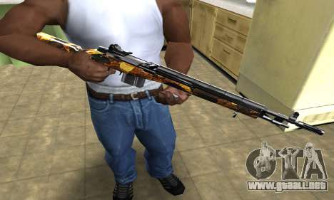 Gold Rifle para GTA San Andreas