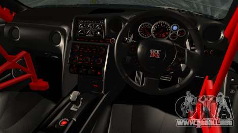 Nissan GT-R R35 Black Rock Shooter Itasha para GTA San Andreas vista posterior izquierda
