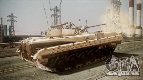 Call of Duty 4: Modern Warfare BMP-2 para GTA San Andreas vista posterior izquierda