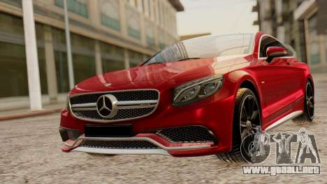 Mercedes-Benz S63 Coupe para GTA San Andreas