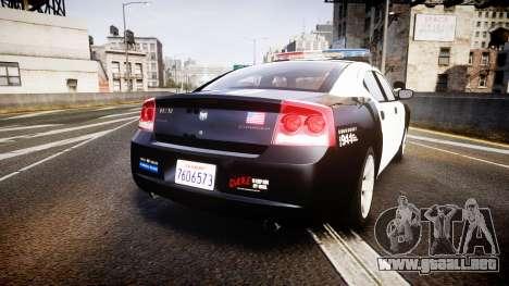 Dodge Charger 2010 LAPD [ELS] para GTA 4 Vista posterior izquierda