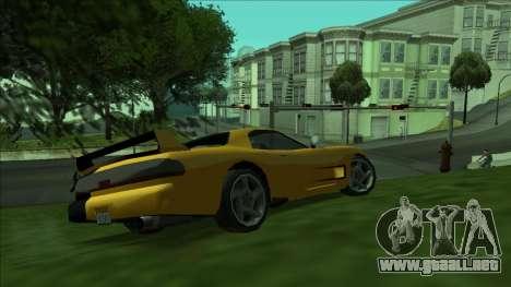 ZR-350 Double Lightning para GTA San Andreas vista posterior izquierda
