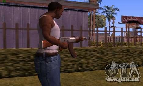 AK-47 from Battlefield Hardline para GTA San Andreas segunda pantalla