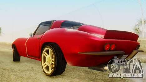Chevrolet Corvette Sting Ray 427 SA Style para GTA San Andreas vista posterior izquierda
