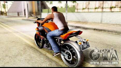 Kawasaki Z250SL Orange para GTA San Andreas left