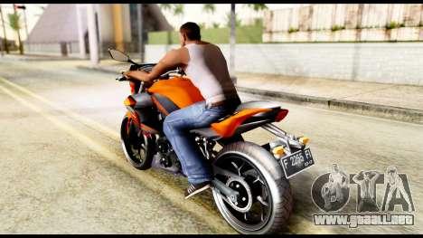 Kawasaki Z250SL Orange para GTA San Andreas left