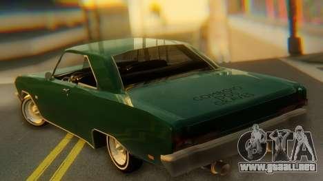Dodge Dart Coupe para GTA San Andreas left