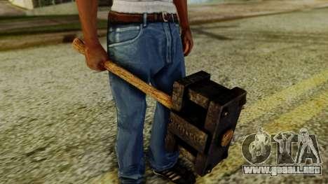 Bogeyman Hammer from Silent Hill Downpour v1 para GTA San Andreas segunda pantalla