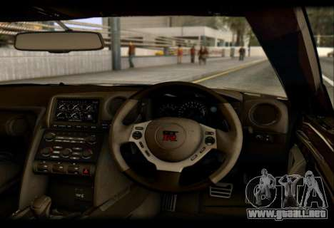 Nissan GTR-R35 Rocket Bunny para GTA San Andreas vista hacia atrás