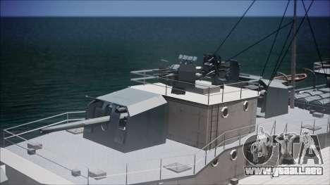 Type 34 Destroyer para GTA San Andreas vista hacia atrás