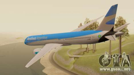 Boening 737 Argentina Airlines para GTA San Andreas left
