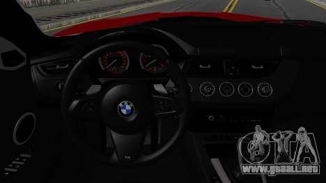BMW Z4 sDrive35is 2011 2 Extras para visión interna GTA San Andreas