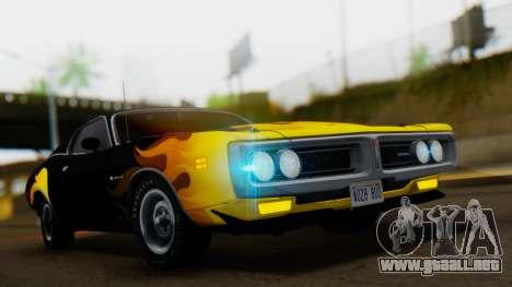 Dodge Charger Super Bee 426 Hemi (WS23) 1971 IVF para vista lateral GTA San Andreas
