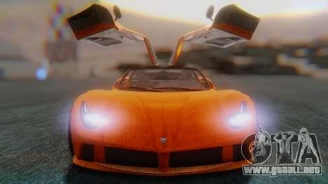 GTA 5 Pegassi Osiris SA Style para GTA San Andreas vista hacia atrás