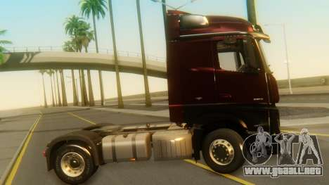 Mercedes-Benz Actros MP4 Stream Space Black para GTA San Andreas vista posterior izquierda