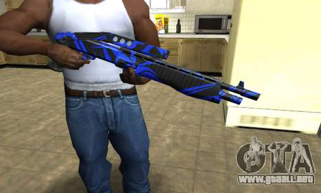 Blue Lines Combat Shotgun para GTA San Andreas